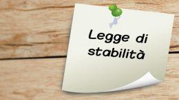 Legge di stabilità